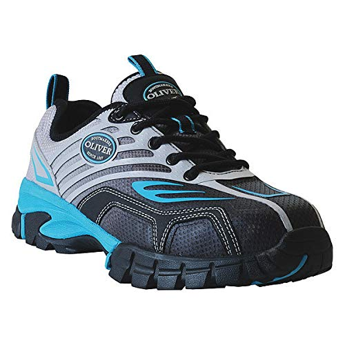 Work Boots, 7-1/2, W, Silver, Composite, PR