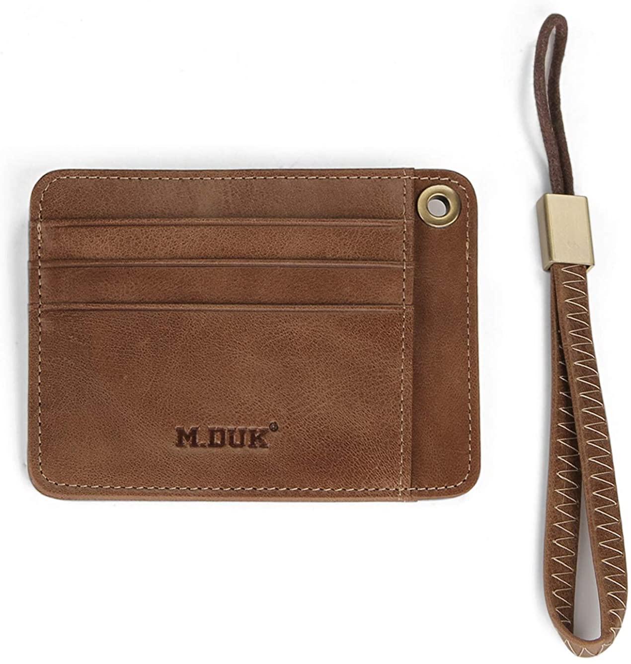 Slim Minimalist Wallet, FIXM Front Pocket Premium-Grade Full Grain Leather Card Holder, Credit Card, ID Card, Driving License Holder for Men & Women (Brown)