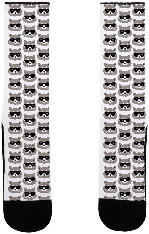LookHUMAN Cool Raccoon Pattern US Size 7-13 Socks