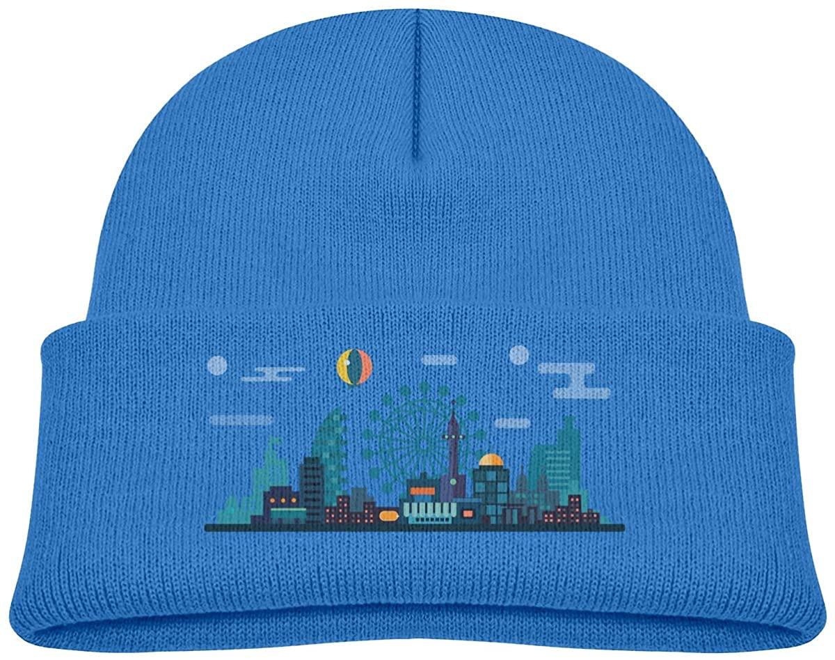 Kids Knitted Beanies Hat Ferris Wheel Winter Hat Knitted Skull Cap