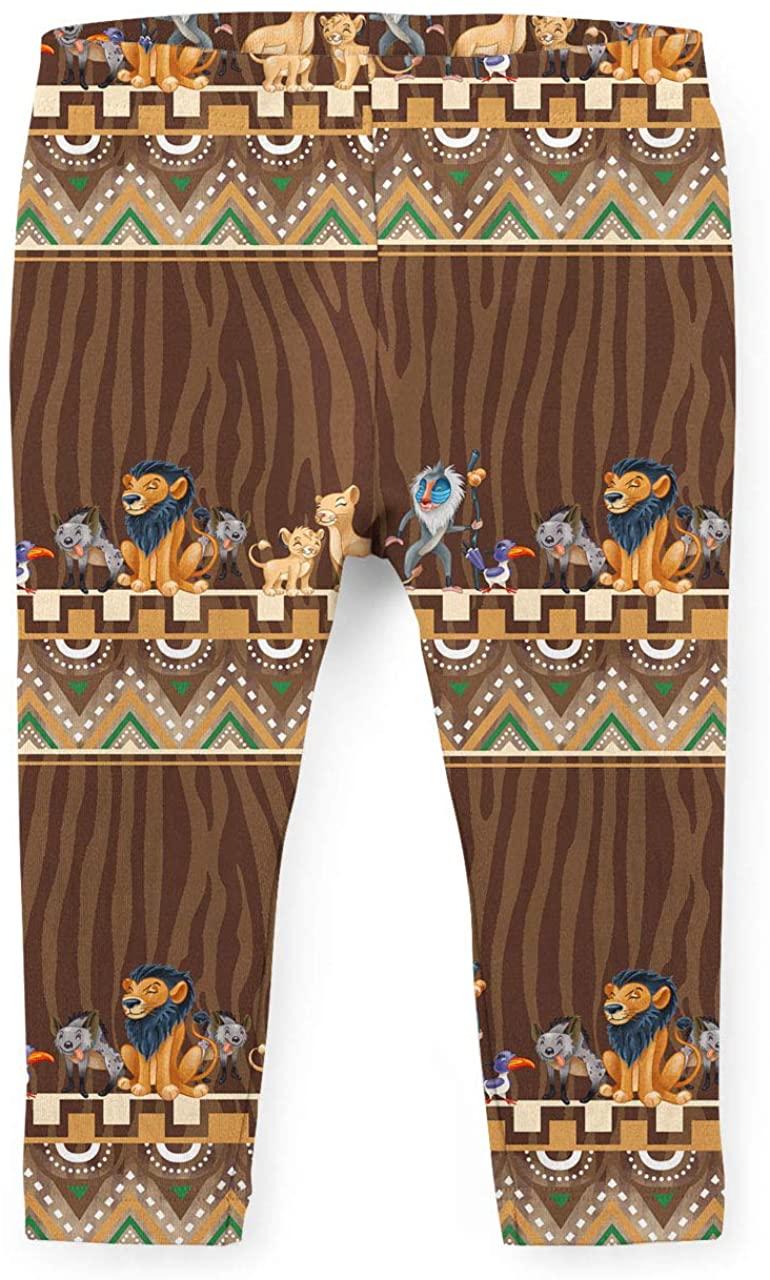 Youth Leggings - Tribal Stripes Lion King Disney Inspired Brown