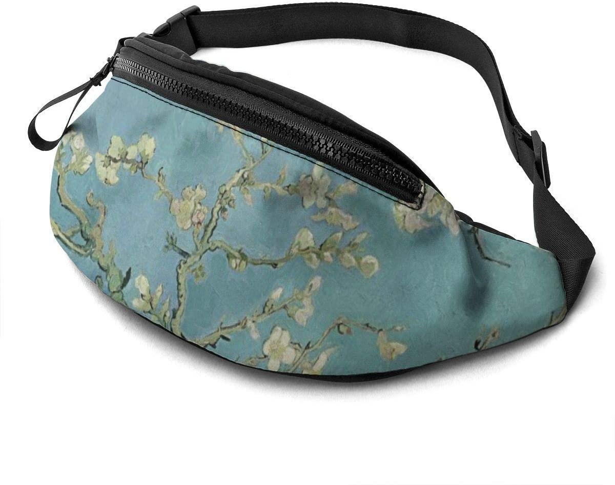 Van Gogh Almond Blossom Art Fashion Casual Waist Bag Fanny Pack Travel Bum Bags Running Pocket For Men Women