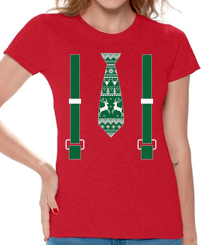 Awkward Styles Christmas Shirts for Women Christmas Elf Santa Claus Shirt for Her