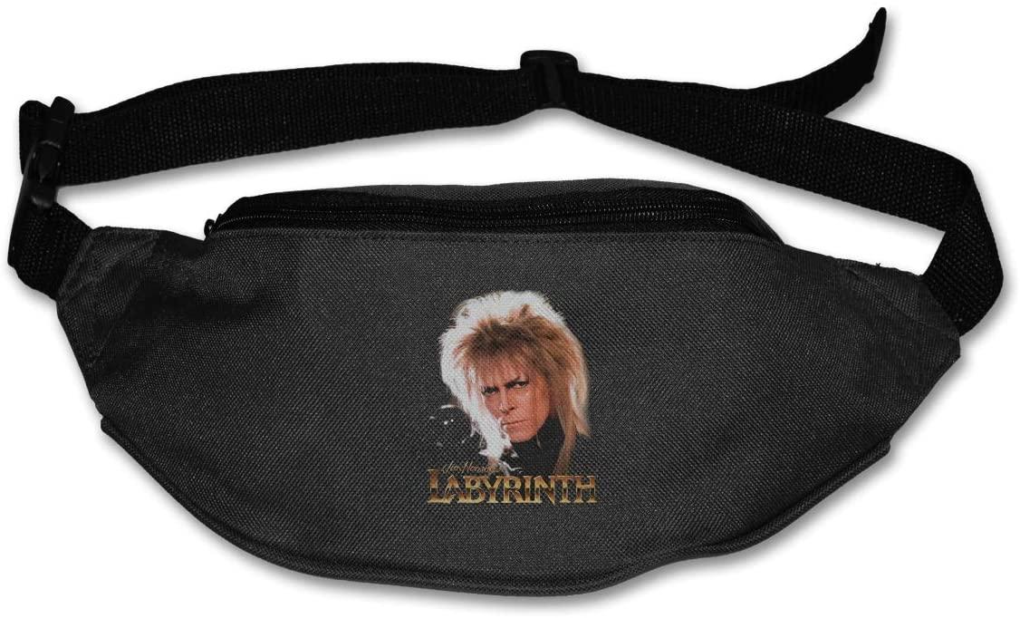 Edgergery Labyrinth Jareth David Bowie Runner's Waist Pack Purse Belt Bag