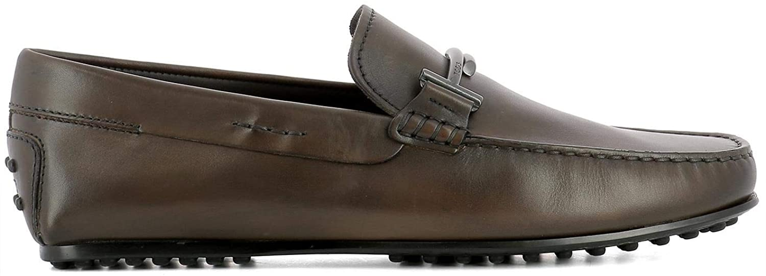 Tod's Luxury Fashion Man XXM0LR0Q700D9CS801 Brown Leather Loafers | Season Permanent