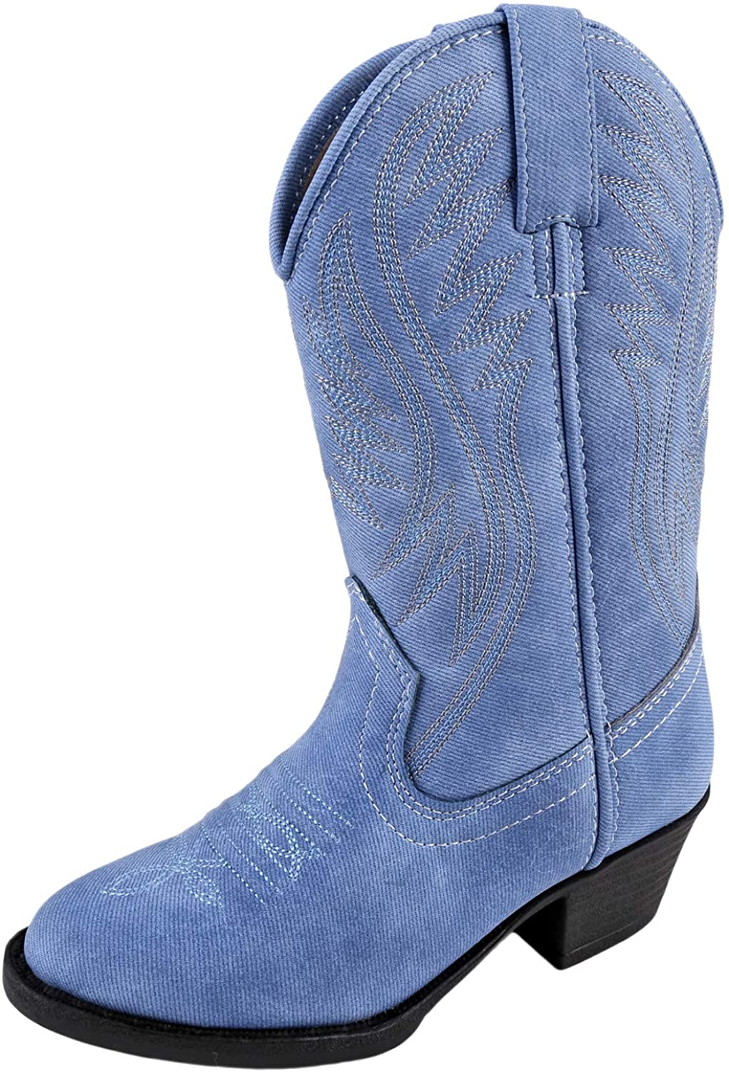 Smoky Mountain Girls' Mesquite Western Boot Round Toe Indigo 7 D