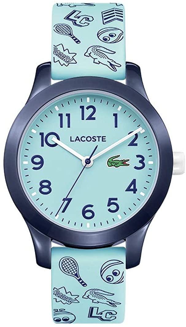 Lacoste Kids' TR90 Quartz Watch with Rubber Strap, Blue, 14 (Model: 2030013)