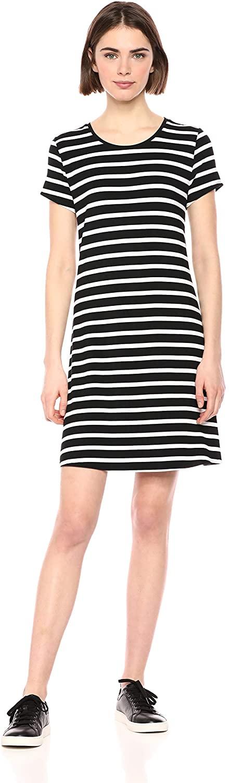 DHgate Essentials Womens Standard Short-Sleeve Scoopneck Swing Dress