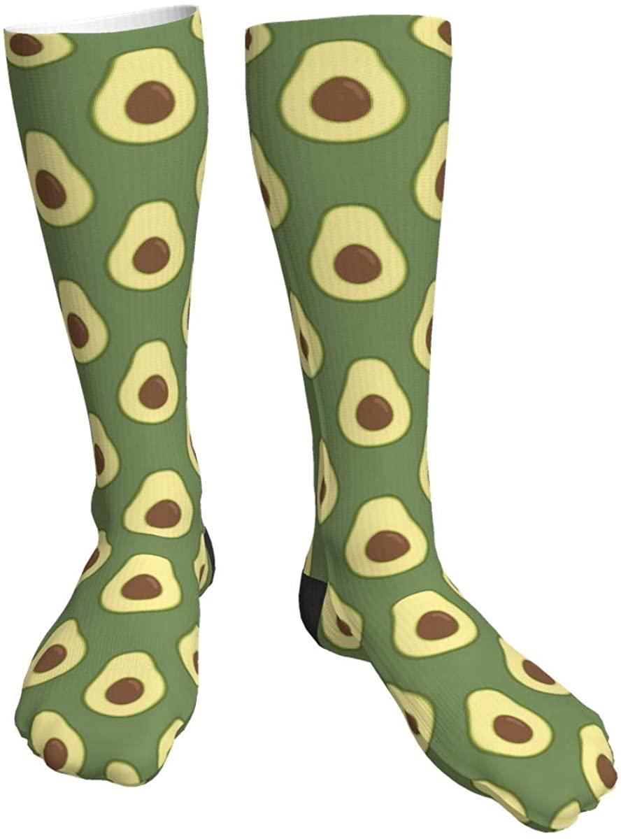 Unisex Casual Socks, Avocado Athletic Socks Compression Crew Socks 50cm Long Socks