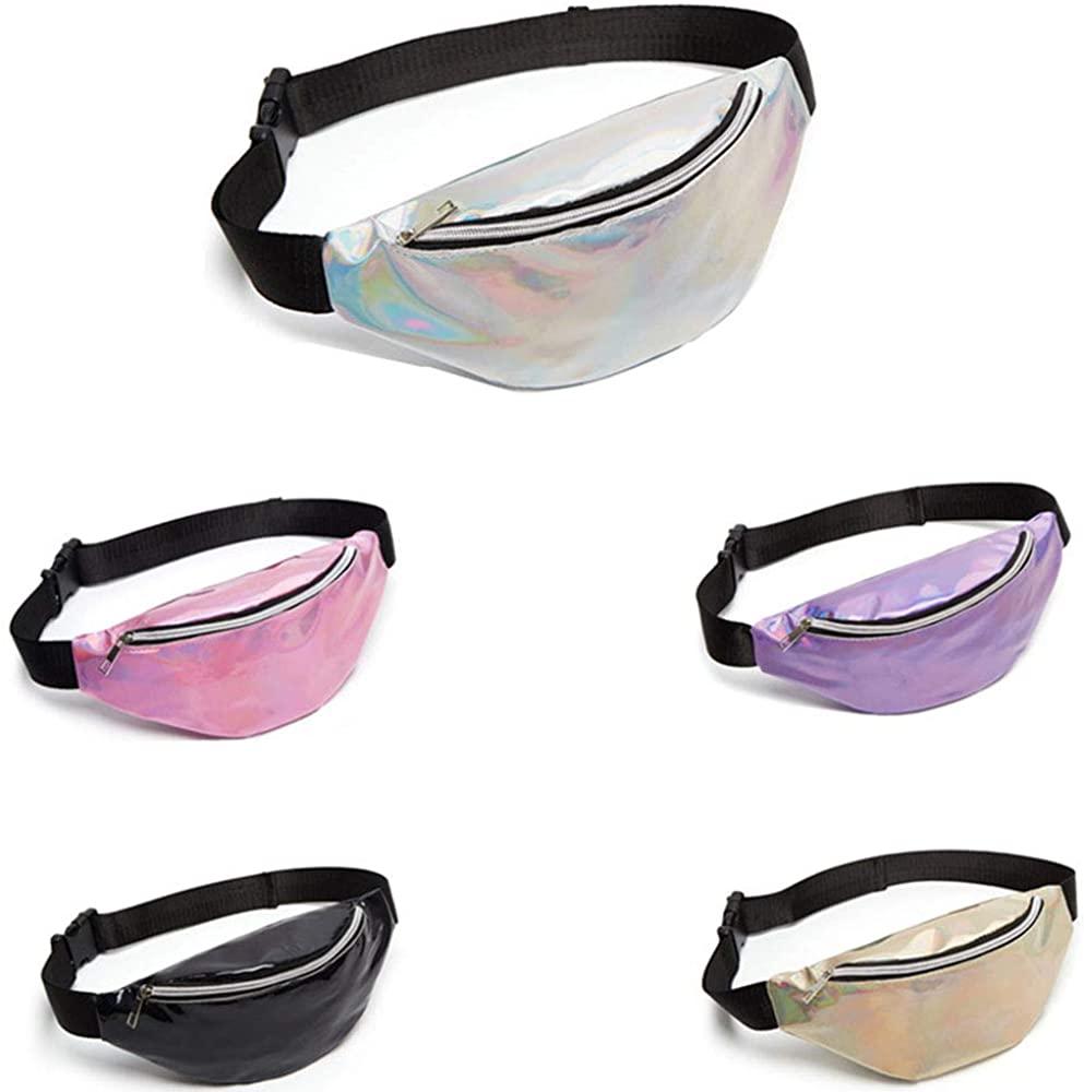 Mey Belt Waist Bag Laser Fanny Pack Hip Bag Women'S Belt Bags Waist Pack Holographic Women'S Purse Waistb Woman Pochete
