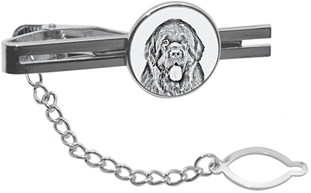 Newfoundland, tie pin, Clip with an Image of a Dog, Elegant and Casual Style