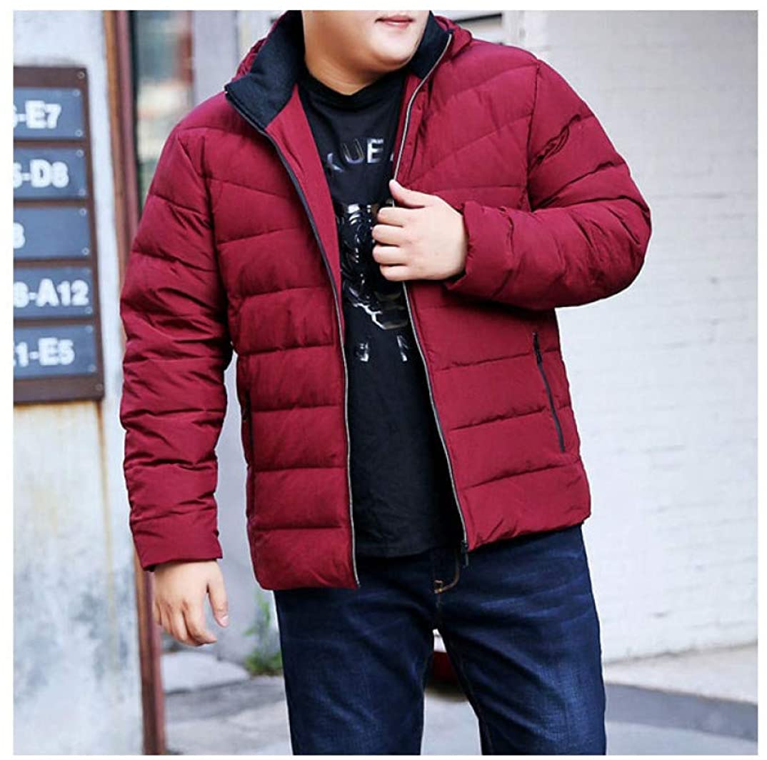 Big Size Winter Jacket Red Loose Detachable Cap Jacket Mens Jacket Thick Coat Down Jacket