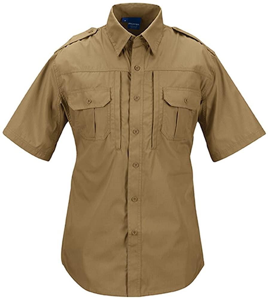 Propper Men's Short Sleeve Tactical Shirt, Coyote, Small Regular