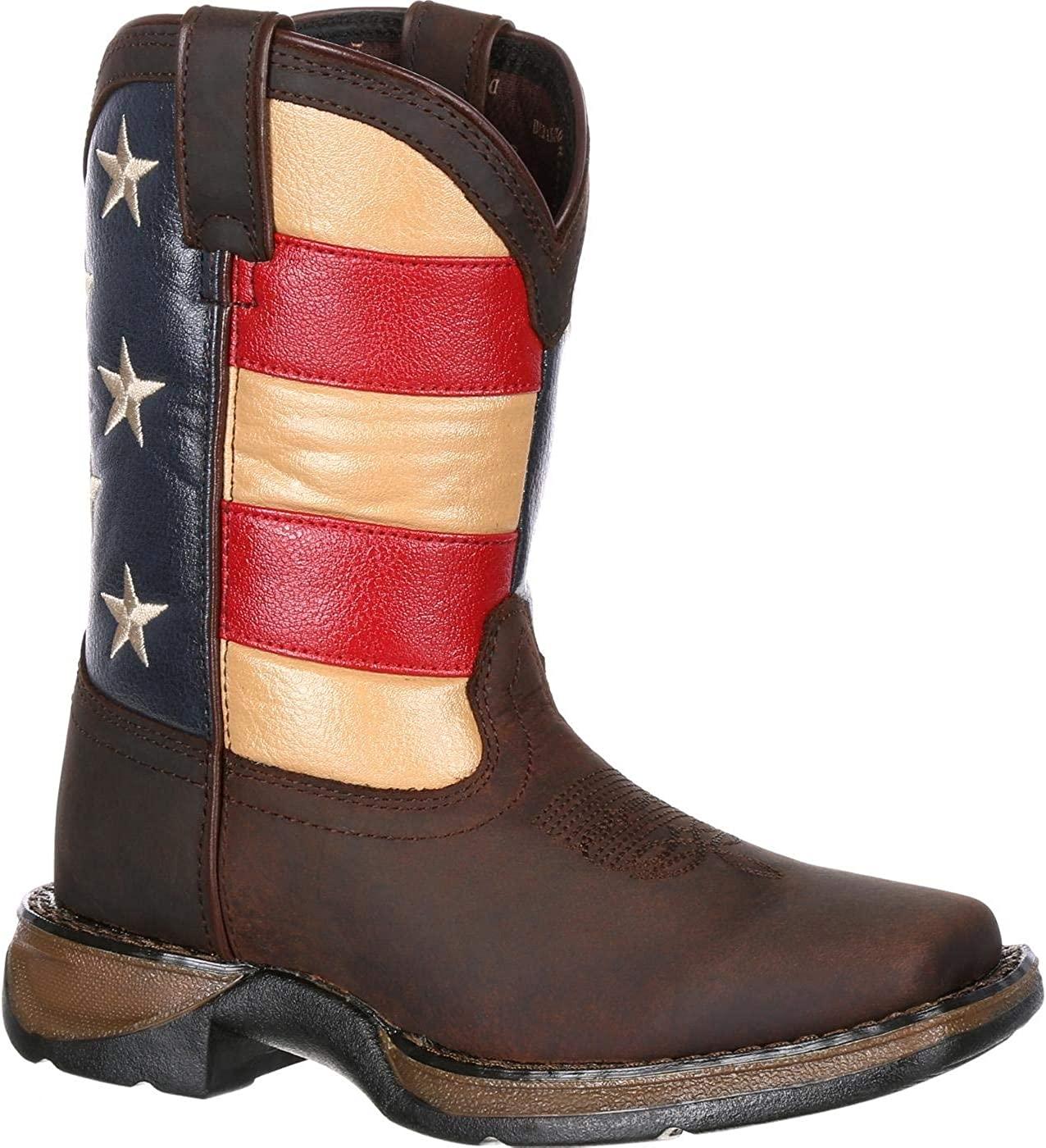 Durango Unisex DBT0160 Western Boot, Brown and Union Flag, 5 M US Big Kid