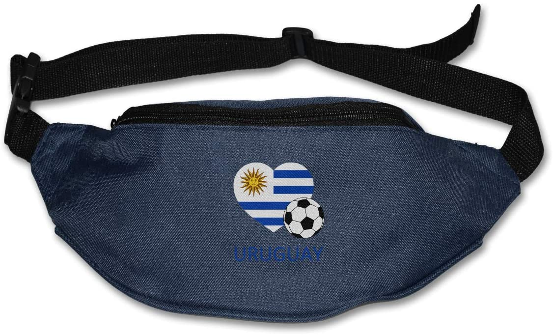 SWEET-YZ Unisex Waist Pack Love Uruguay Soccer Flat Fanny Bag Pack for Sport Running