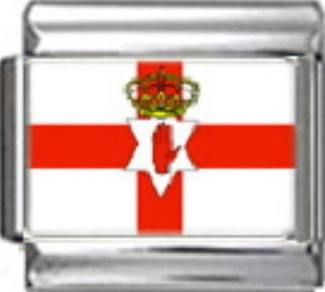 Stylysh Charms NORTHERN IRELAND FLAG Photo Italian 9mm Link PC132 Fits Nomination Classic