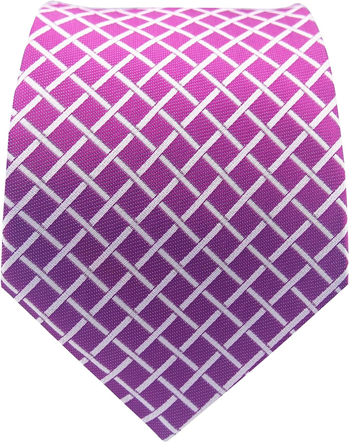PilotMan Men's Tie Cross-Striped Necktie Checks Silk Tie With Gift Box
