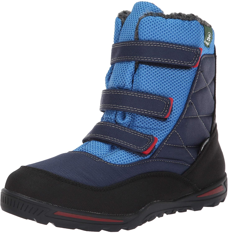 Kamik Boys' Hayden Snow Boot, Navy/Blue, 1 Medium US Little Kid