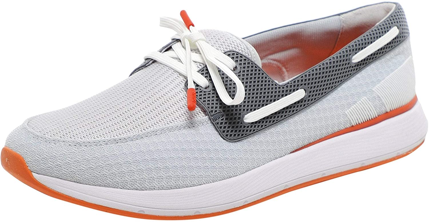 SWIMS Men's Breeze Wave Boat Shoes Gray