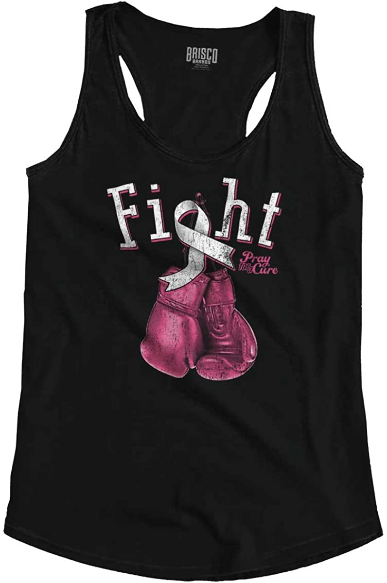 Fight Battle Breast Cancer Awareness Gift Racerback Tank Top
