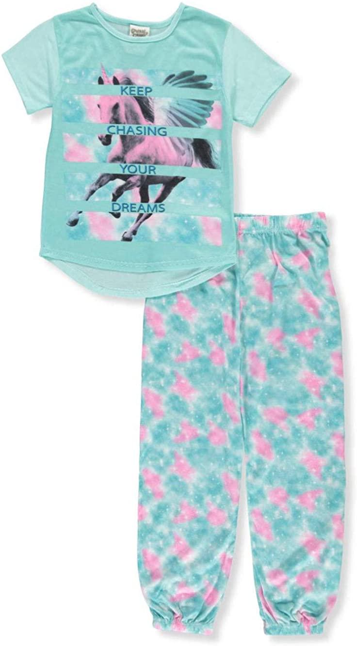 SWEET N SASSY Girls' 2-Piece Pajamas