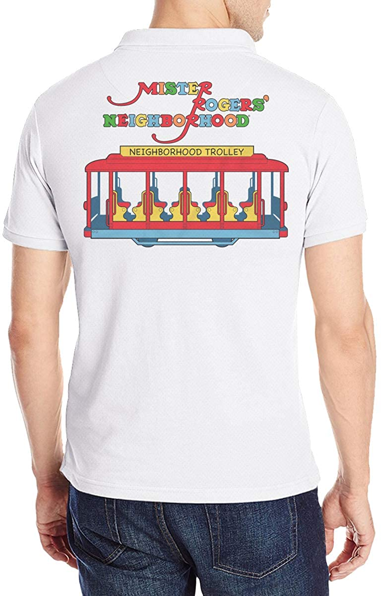 Mister Rogers Neighborhood Trolley Mens Polo Shirts.Shirts