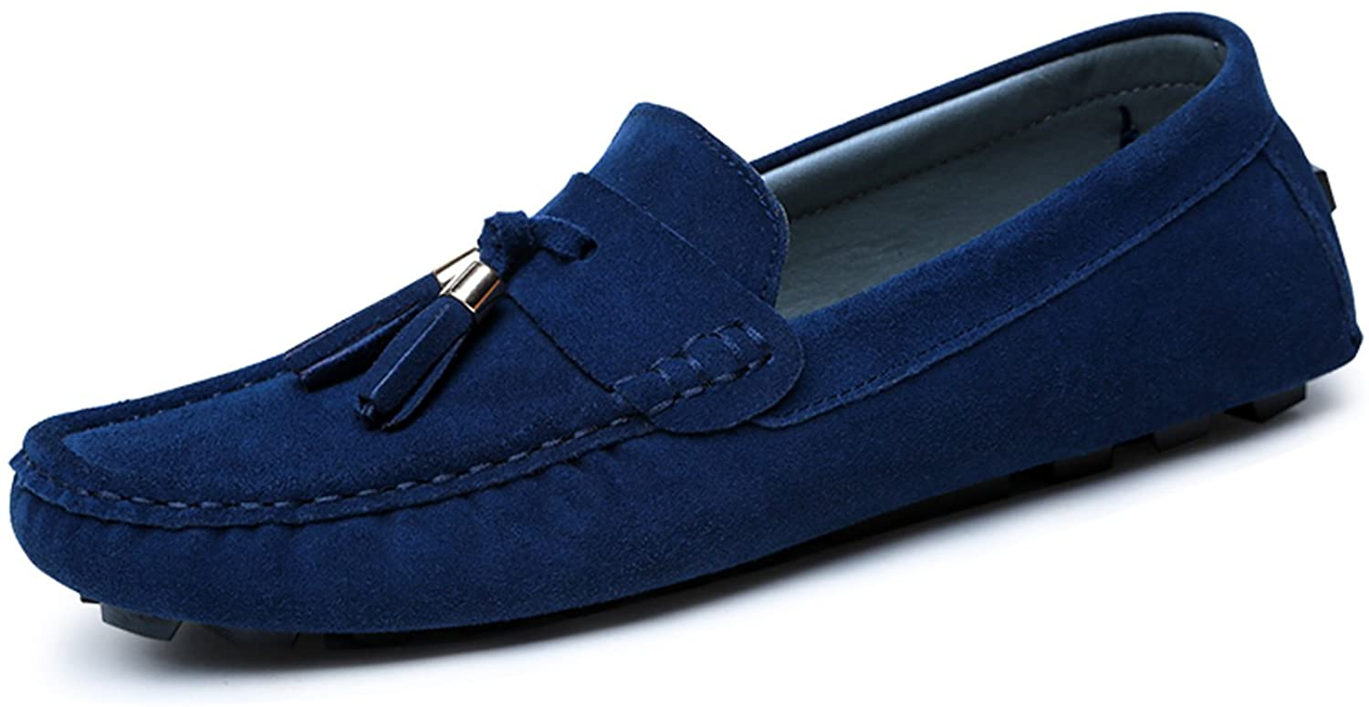 CIROHUNER Mens Casual Suede Loafers Slip-on Driving Shoes