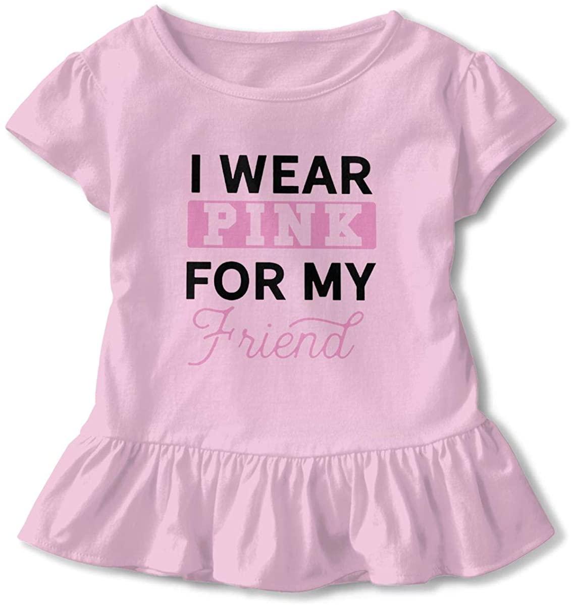 AHUAHUA Kids Breast Cancer Awareness Gifts Toddler Short Sleeve T Shirt Children Girls Cotton Graphic Tee Soft Dress (2-6T)