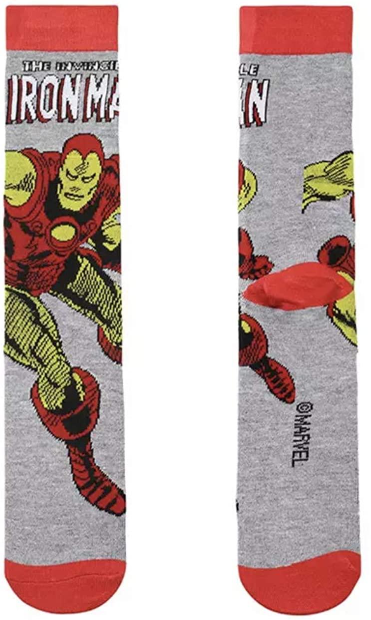 Super Hero Marvel Comics Classic Ironman Character 360 Crew Socks