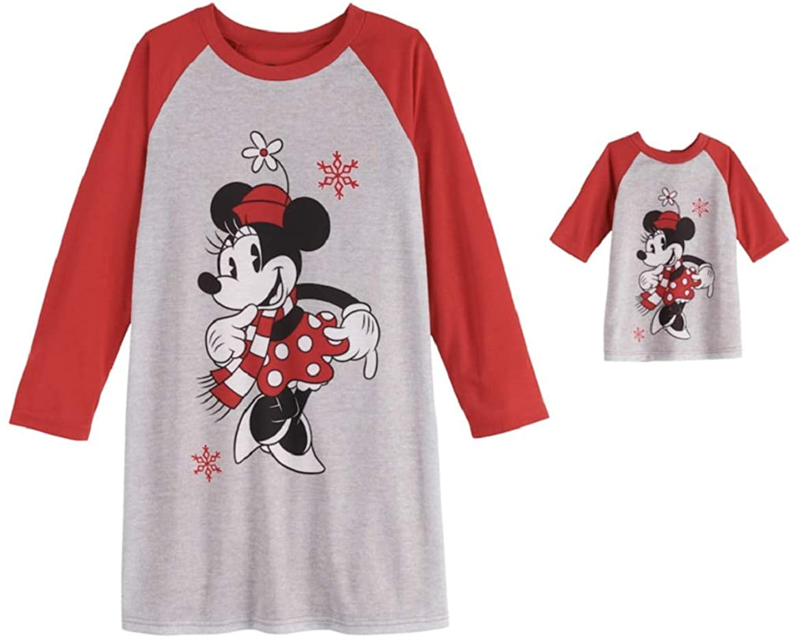 Minnie Mouse Jammies for Your Families Nightgown & Doll Gown Pajama Set