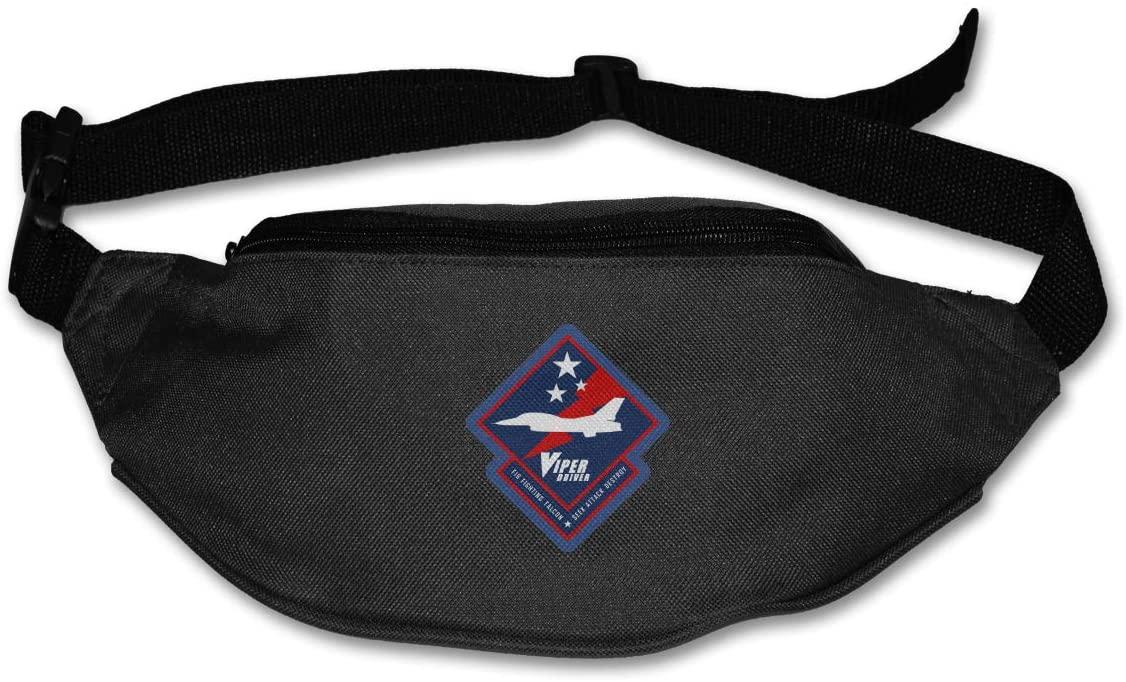 F-16 Viper Driver Unisex Outdoors Fanny Pack Bag Belt Bag Sport Waist Pack