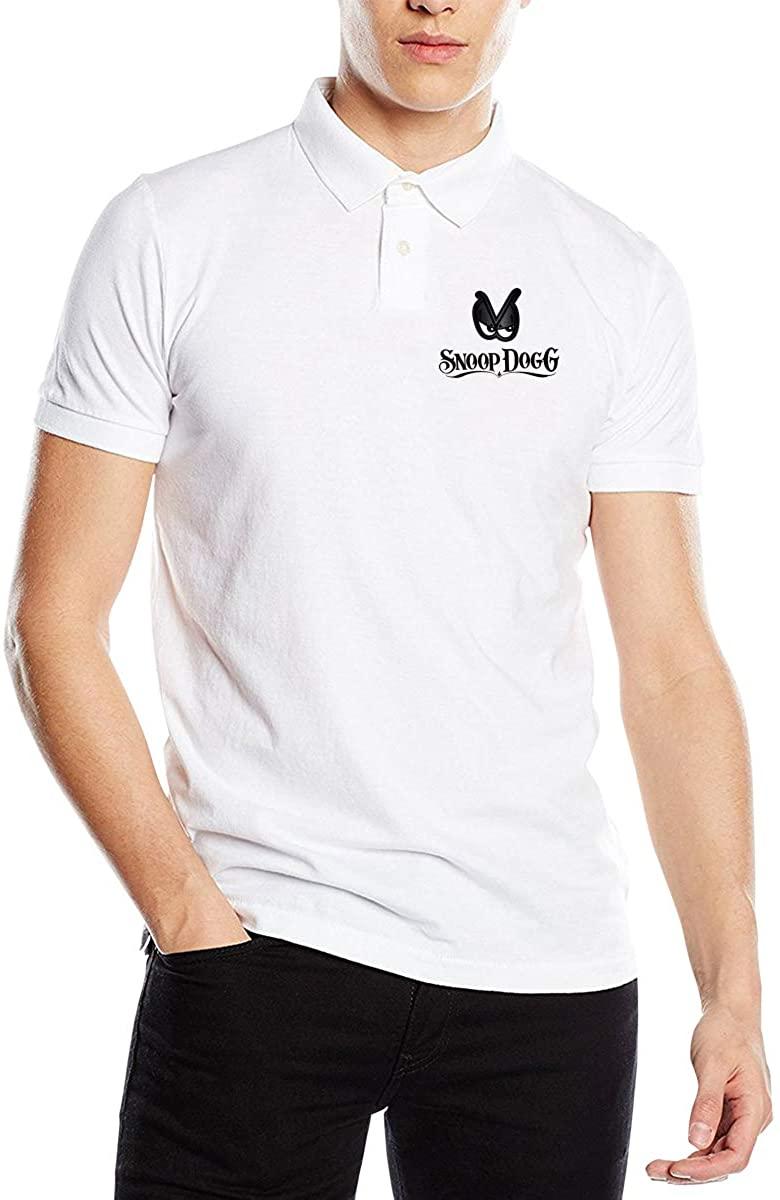 Ourjsncvns Snoop Dogg Men's Regular-Fit Cotton Polo Shirt