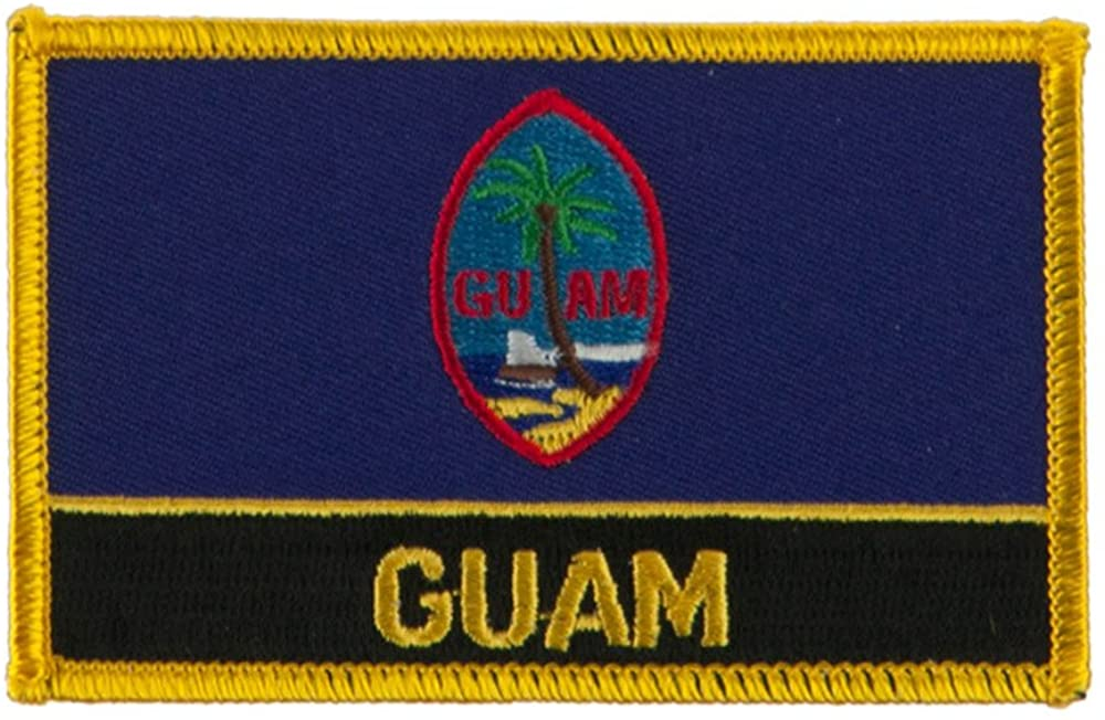North and South America Flag Embroidered Patch - Guam W01S12E