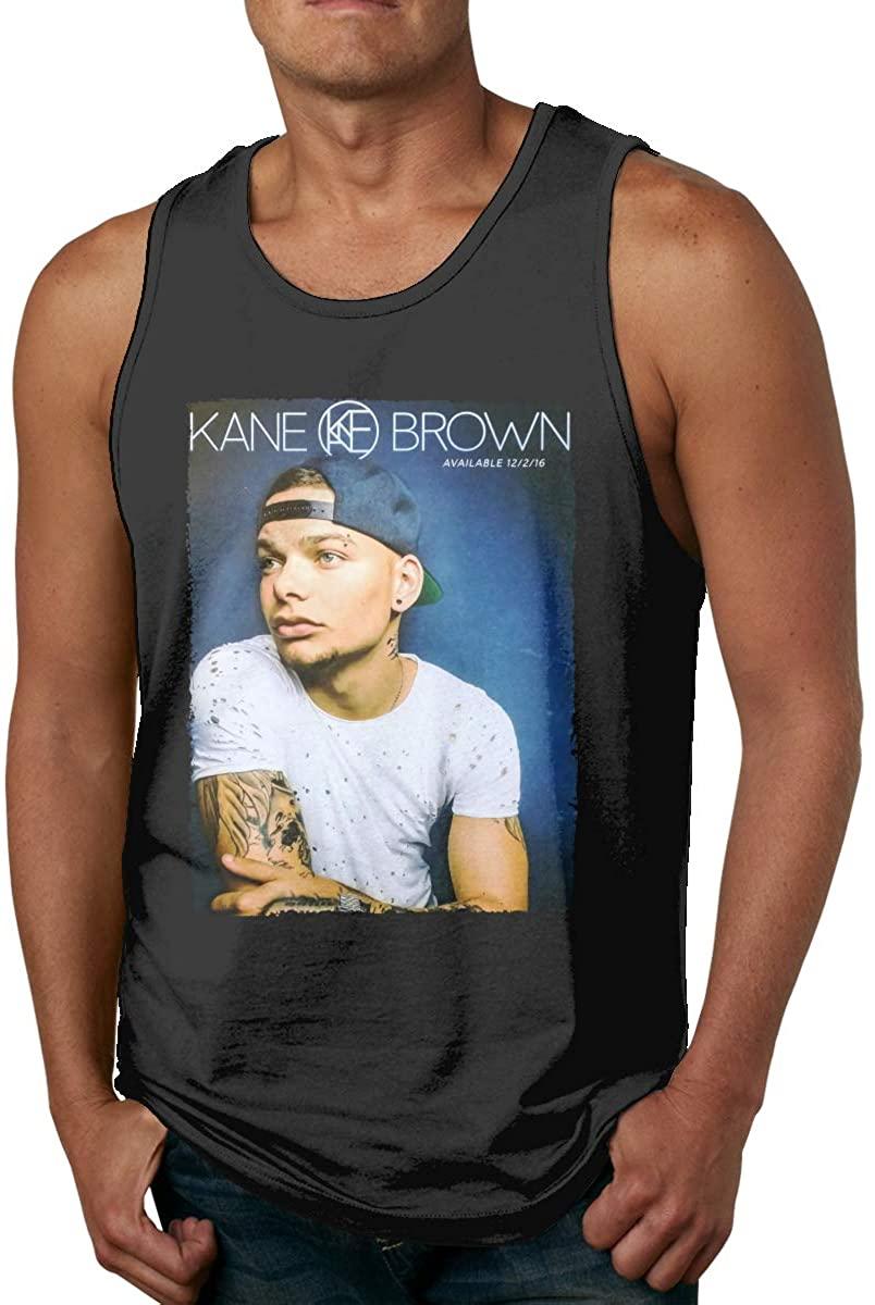 DamaYong Kane Brown Man Tank Top Shirt Round Neck Sleeveless Cute Summer Tee Vest Tops