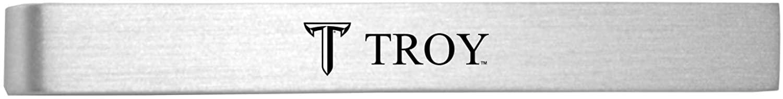 Troy University-Brushed Metal Tie Clip-Silver