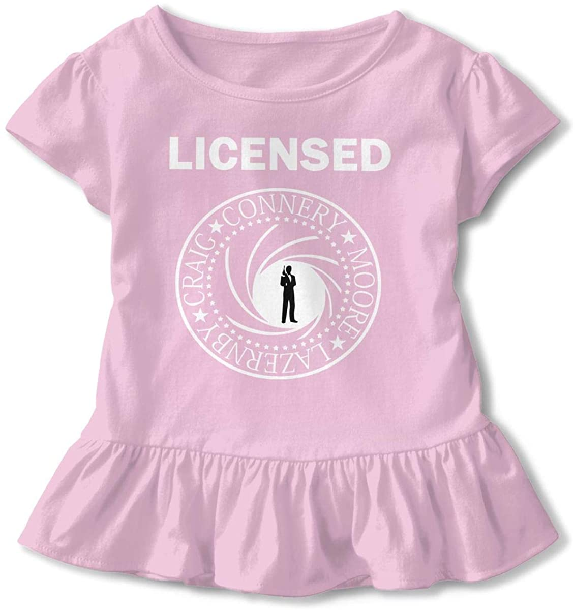 Kids Licensed to Be On Ramones Toddler Short Sleeve T Shirt Children Girls Cotton Graphic Tee Soft Dress (2-6T)