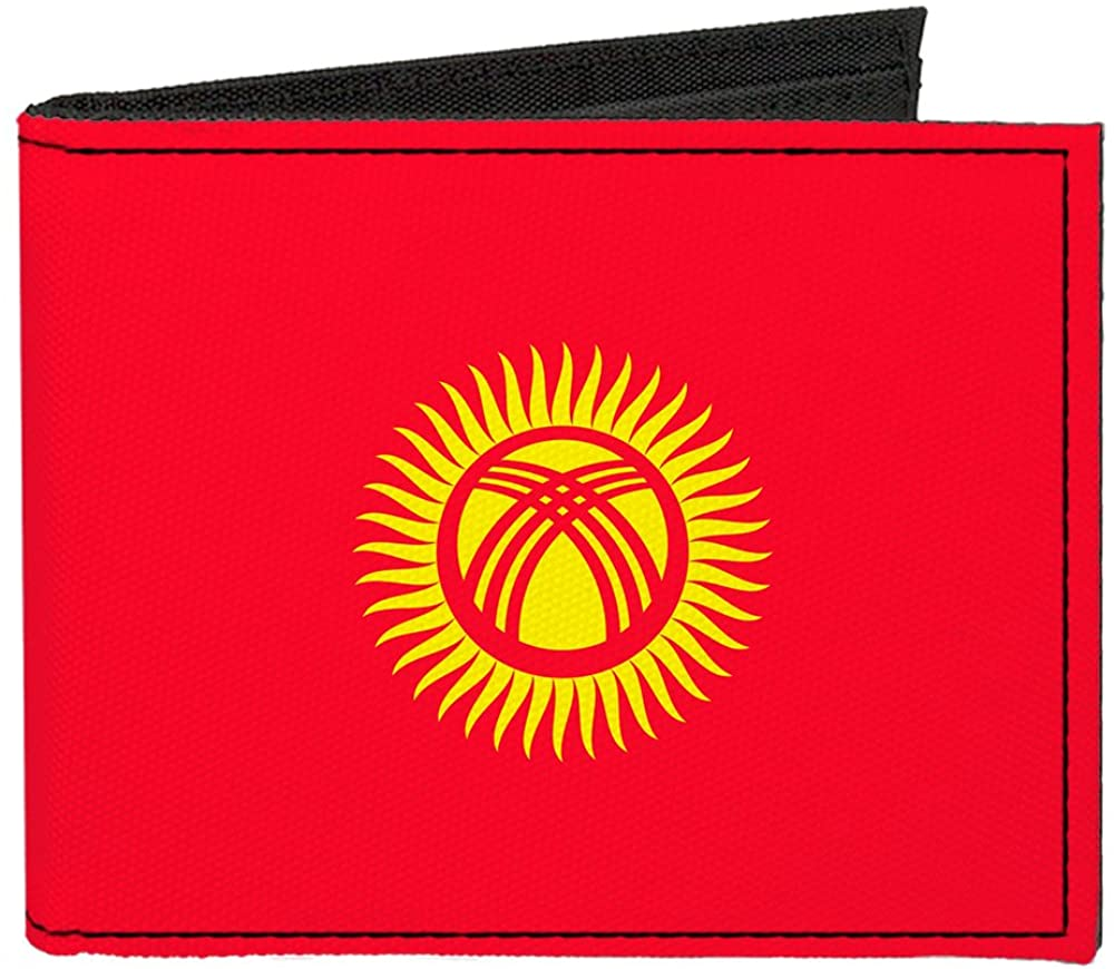Buckle-Down Canvas Bifold Wallet - Kyrgyzstan