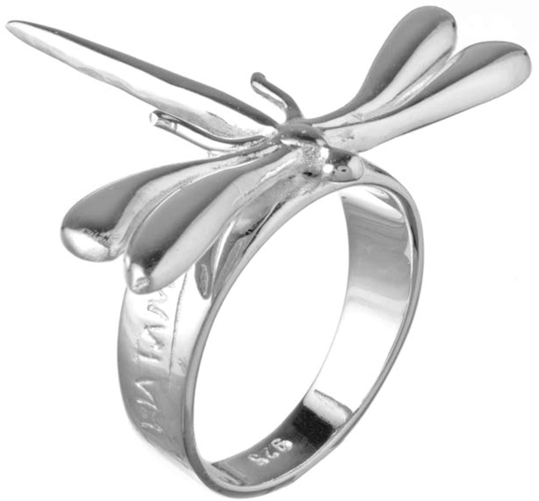 Lola Ramos Dragon Fly Sterling Silver Ring 6.5