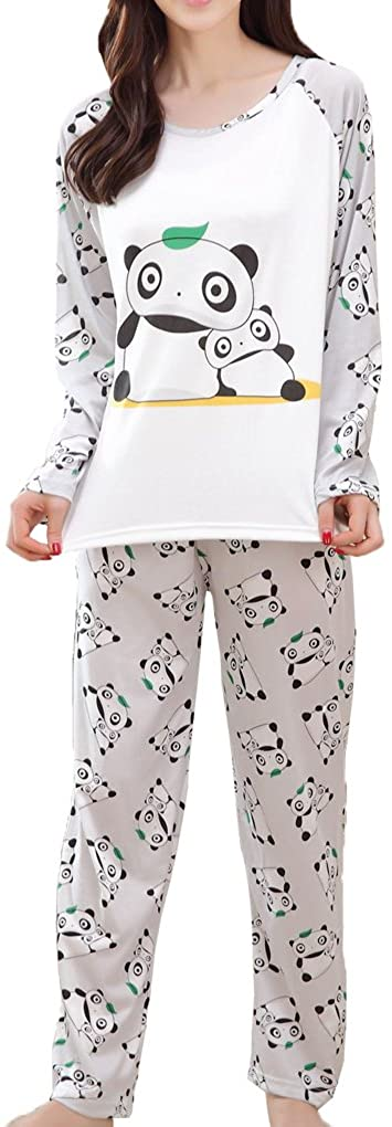 MyFav Big Girls Cute Cartoon Pajama Set Casual Comfy Loungewear Children Sleepwear
