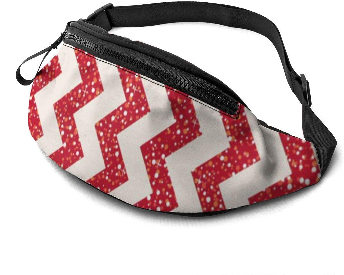 Colored Stripes Fanny Pack For Men Women Waist Pack Bag With Headphone Jack And Zipper Pockets Adjustable Straps