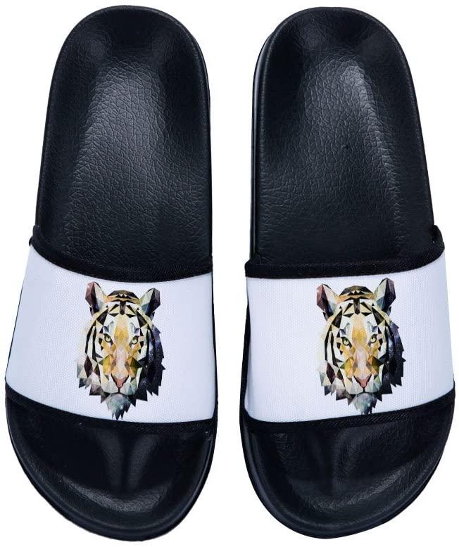 Wilbur Gold Sandals for Men Tiger Beach Sandals Anti-Slip Bath Slippers Shower Shoes Indoor Floor Slipper