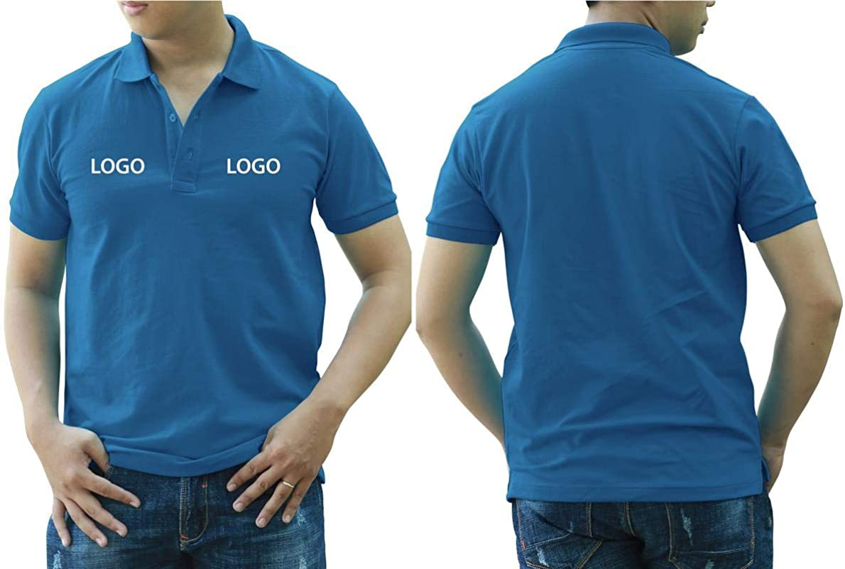 Add Your Logo Text Design Image Picture. Custom Polo. Personalized Polo. Printed On Polo & T-Shirt Uniform with Multi Sides. International Pack of 10