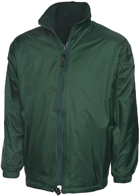 Uneek Clothing Men's Waterproof Windproof Reversible Fleece Jacket Medium Bottle Green