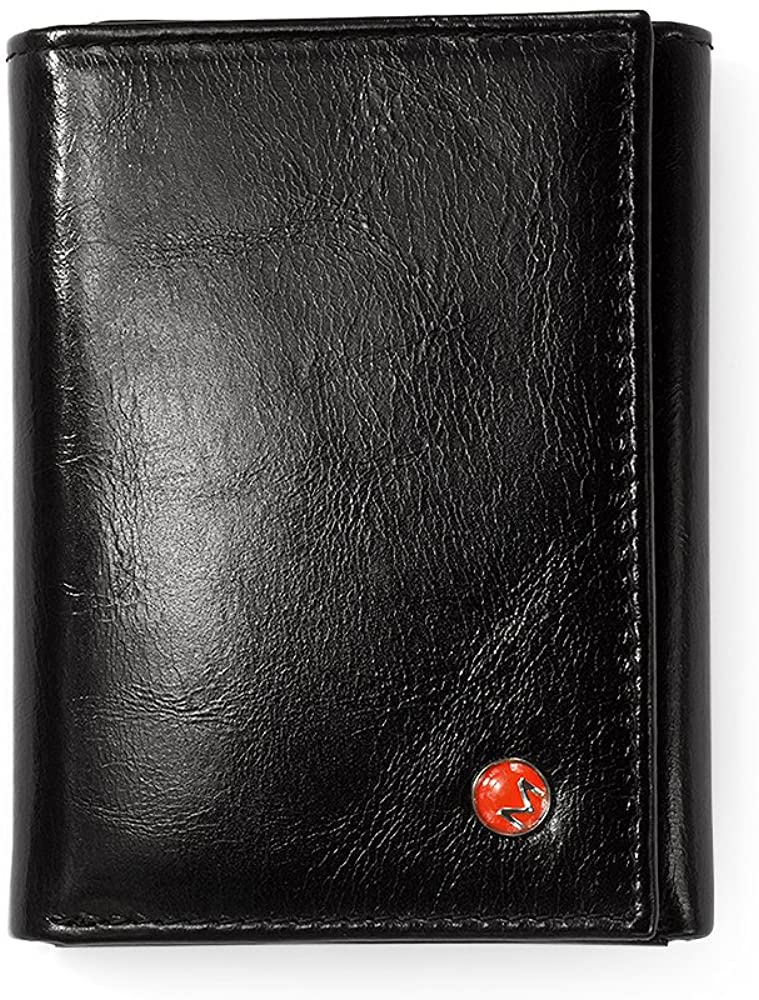OMcolor Minimalist Genuine Leather Wallet Bifold Trifold Hybrid