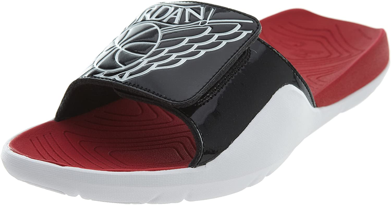 Jordan Nike Men's Hydro 7 Black/White/Gym Red/White Sandal 10 Men US
