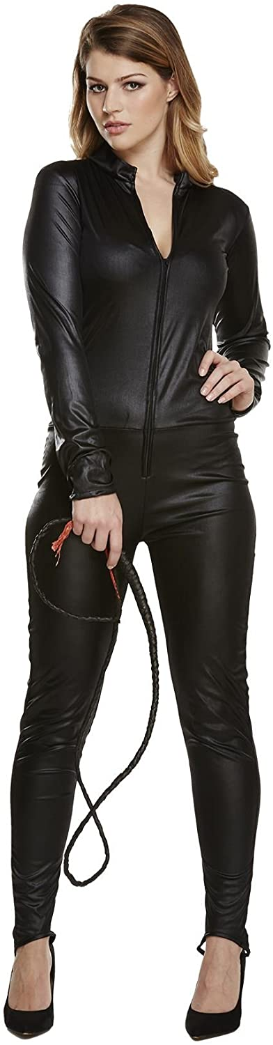 Rimi Hanger Womens Wet Look Catsuit Halloween Party Costume Ladies Fancy Party Dress Outfit One Size