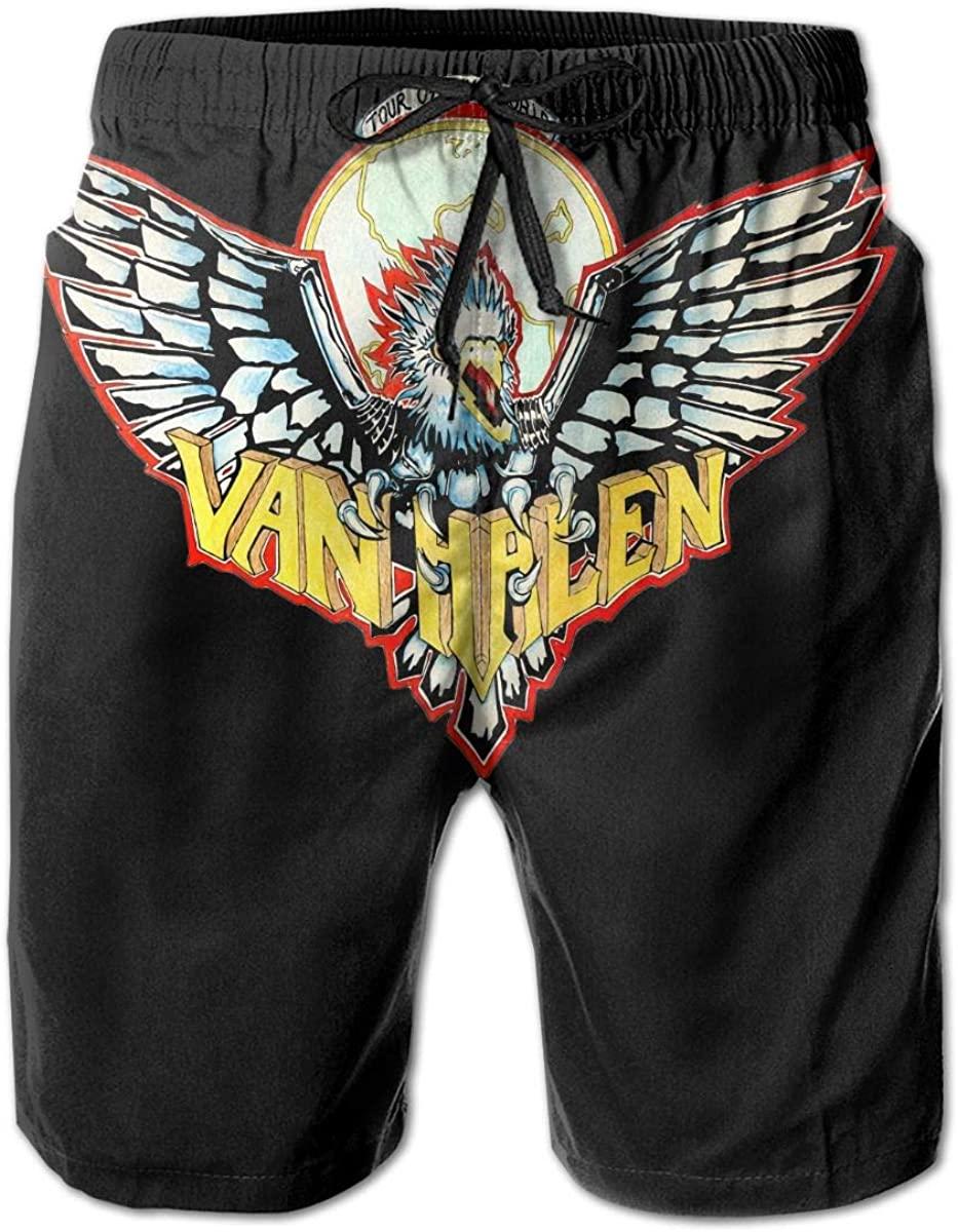 Men Beach Shorts Swim Trunks Van Halen Swimsuit Boardshorts Bath Suits Slim Fit