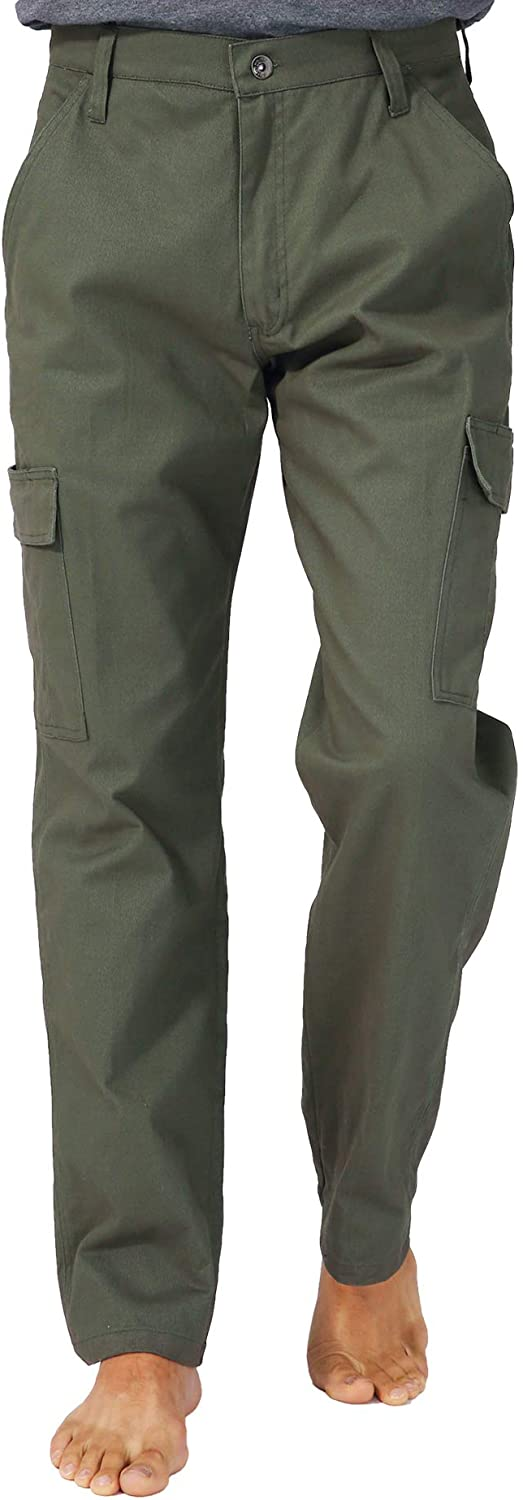 KESSER Cargo Pants for Men, Men's Work Pants with Pocket for Hiking Tactical Flat-Front Chino Pants
