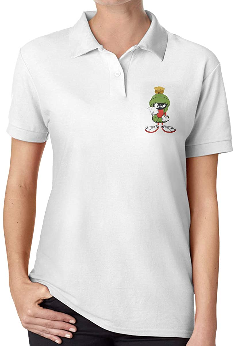 Marvin-Martian Fashionable Ladies High-End Polo Shirt Short Sleeve T-Shirt