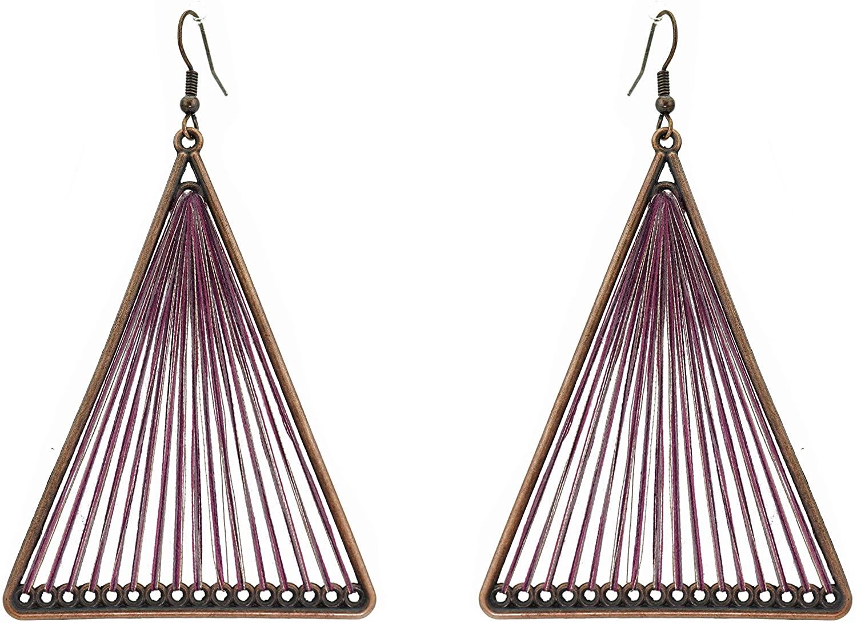 Bohemian Statement Drop Dangle Earrings Fashion Jewelry Vintage Style Water Drop National Long Boho Dangle Earrings for Women Girls